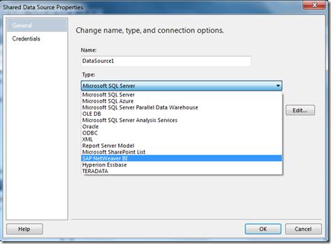 SAP Integration – Part 1: Microsoft BI on top of SAP BW (5/6)