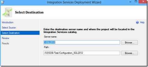 SSIS 2012 Configuration Guide – Part 2: Scenarios, Setup and Migration (4/6)